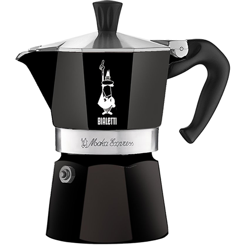 Bialetti Moka Express Black Espresso Coffee Maker 1 cup