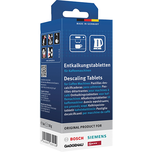 Decalcifying tablets for coffee machines 00311864