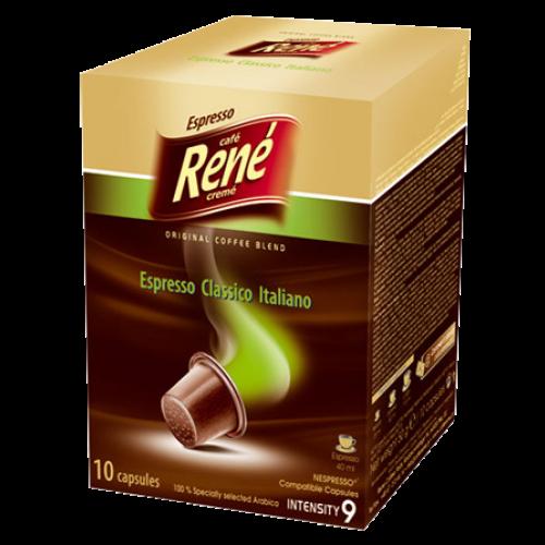Café René Espresso Classico Italiano Nespresso coffee capsules 10pcs