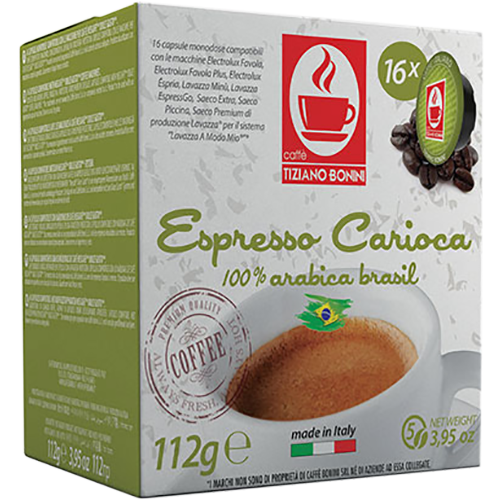 Caffè Bonini Carioca A Modo Mio coffee capsules 16pcs