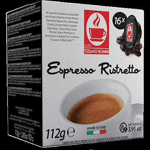 Caffè Bonini Ristretto A Modo Mio coffee capsules 16pcs