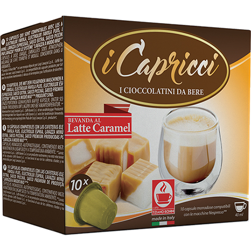Caffè Bonini Latte Caramel coffee capsules for Nespresso 10pcs