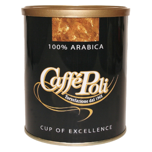 Caffè Poli 100% Arabica tincan ground coffee 250g