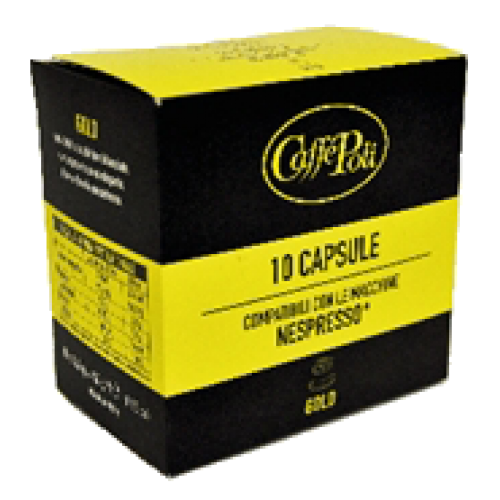 Caffè Poli Gold coffee capsules for Nespresso 10pcs