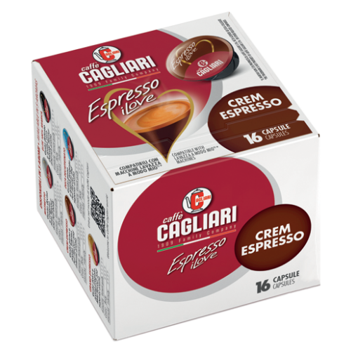 Cagliari Crem Espresso A Modo Mio kaffekapslar 16pcs