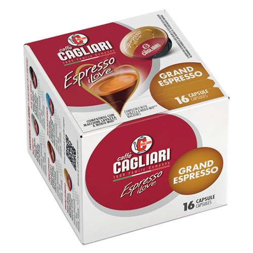 Cagliari Grand Espresso A Modo Mio coffee capsules 16pcs