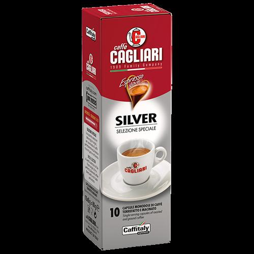 Cagliari Silver Caffitaly coffee capsules 10pcs