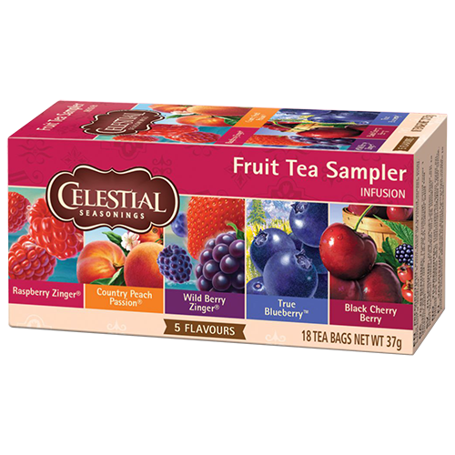 Celestial tea Fruit tea Sampler tea bags 18pcs expire soon