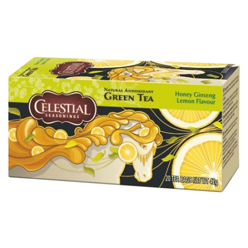 Celestial tea Honey Ginseng Lemon tea bags 20pcs expired date