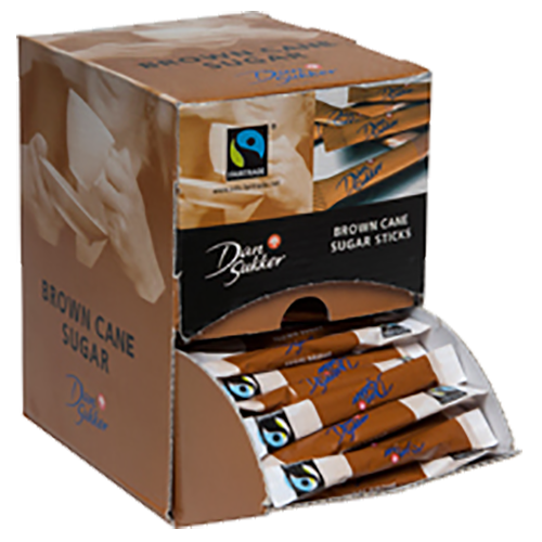 Dansukker cane sugar sticks fairtrade 4g x225