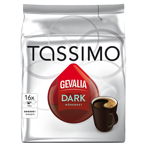 Gevalia Dark Tassimo coffee capsules 16pcs x5