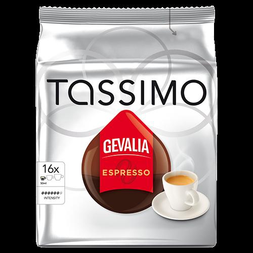Gevalia Espresso Tassimo coffee capsules 16pcs x5