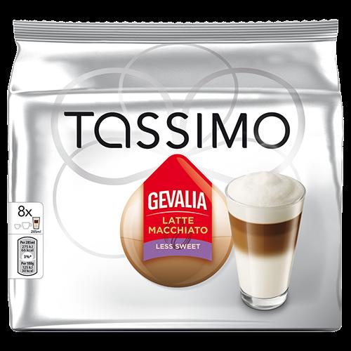 Gevalia Latte Macchiato Less Sweet Tassimo coffee capsules 8pcs