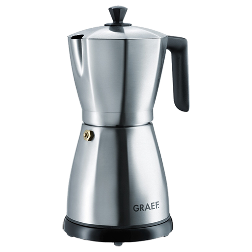 Graef EM80 stainless steel electric espresso maker brushed steel