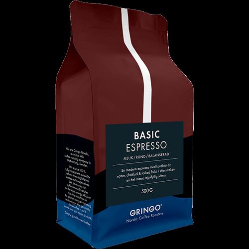 Gringo Basic Espresso coffee beans 500g