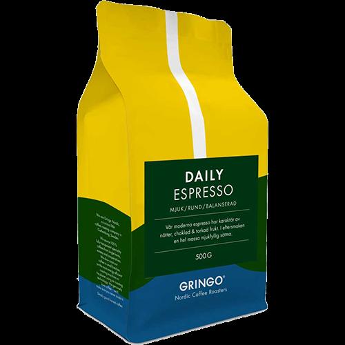 Gringo Daily Espresso coffee beans 500g
