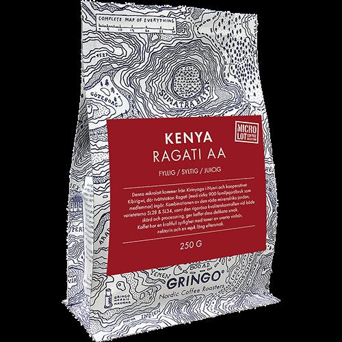 Gringo Kenya Ragati AA coffee beans 250g