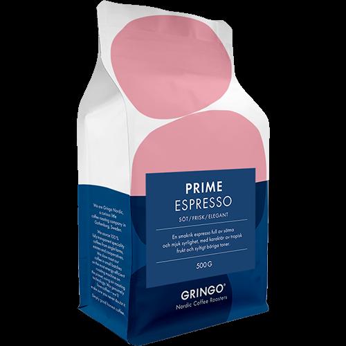 Gringo Prime Espresso coffee beans 500g