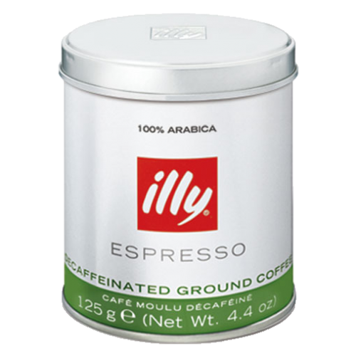 illy Espresso decaffeinato ground coffee 125g