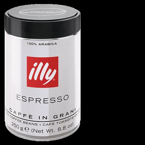 illy Espresso dark roast tincan coffee beans 250g x12