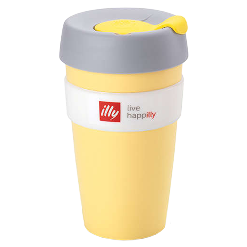 illy live happilly KeepCup coffee cup yellow 454ml