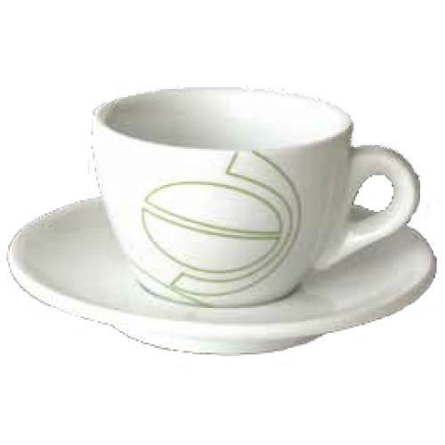 johan & nyström cappuccino cups (inc saucer) 6pcs