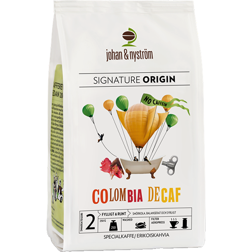 johan & nyström Colombia Decaf coffee beans 250g