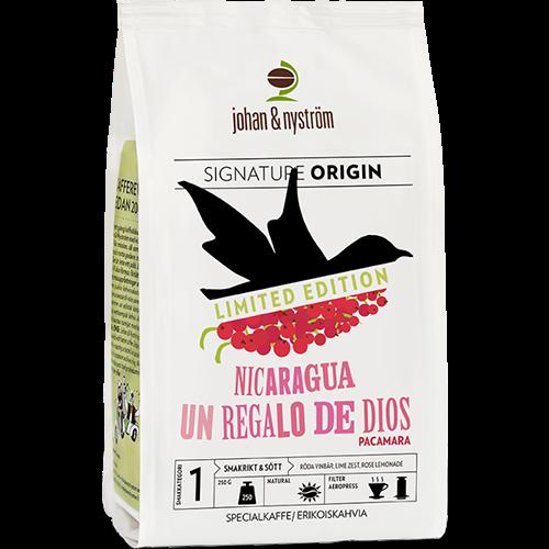johan & nyström Nicaragua Un regalo de dios coffee beans 250g