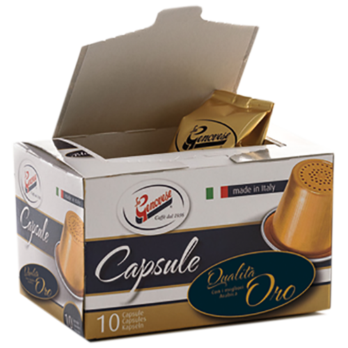 La Genovese Qualità Oro coffee capsules for Nespresso 10pcs