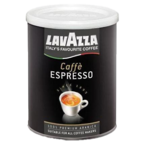 Lavazza 100% Arabica tincan ground coffee 250g