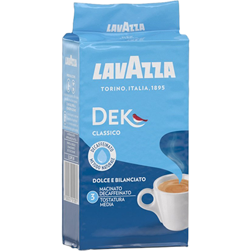 Lavazza Dek Classico ground coffee 250g