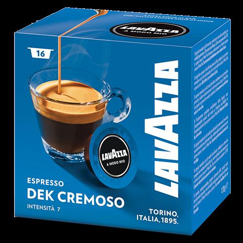 Lavazza A Modo Mio Espresso Dek Cremoso coffee capsules 16pcs