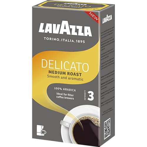 Lavazza Delicato ground filter coffee 500g