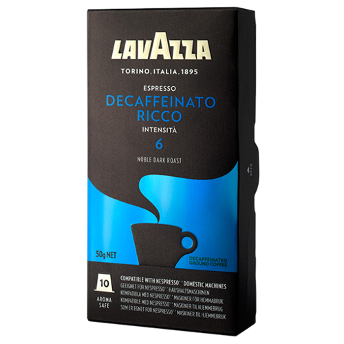 Lavazza Decaffeinato Ricco coffee capsules for Nespresso 10pcs