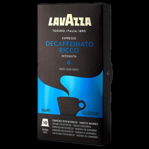 Lavazza Decaffeinato Ricco Nespresso coffee capsules 10pcs