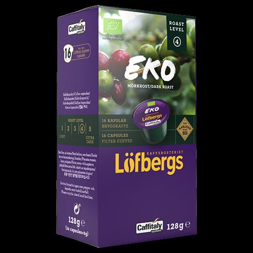 Löfbergs Lila Eco Mörkrost brygg Caffitaly coffee capsules 16pcs