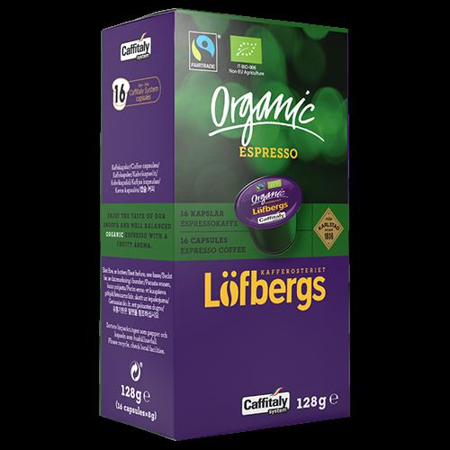 Löfbergs Lila Organic Espresso Caffitaly coffee capsules 16pcs