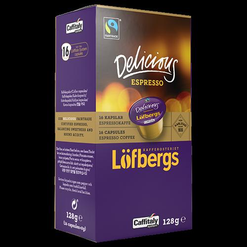 Löfbergs Lila Delicious Espresso Caffitaly coffee capsules 16pcs