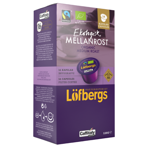 Löfbergs Lila Eco Mellanrost brygg Caffitaly coffee capsules 16pcs