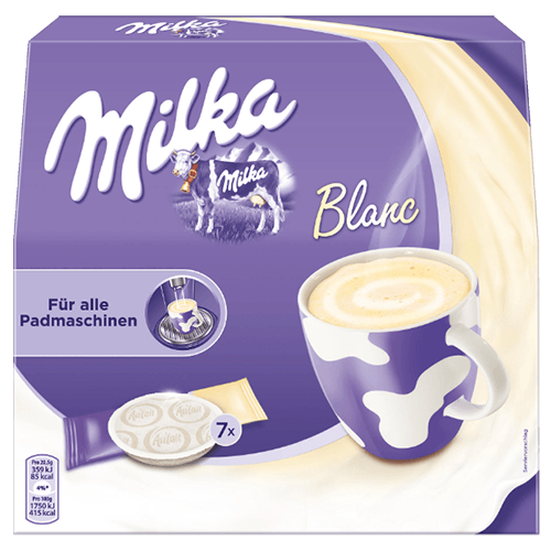 Milka white chocolate pads 7pcs