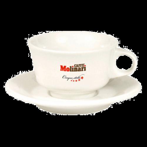 Molinari cappuccino cups (inc saucers) 6pcs