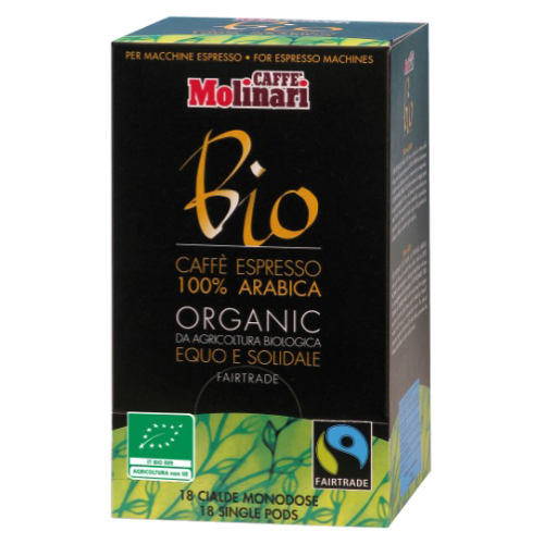 Molinari Bio coffee pods 18pcs
