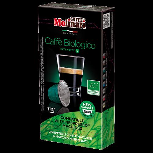 Molinari itespresso Bio 100% Arabica coffee capsules for Nespresso 10pcs expired date