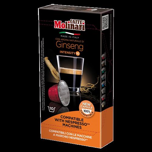 Molinari Ginseng Nespresso coffee capsules 10pcs