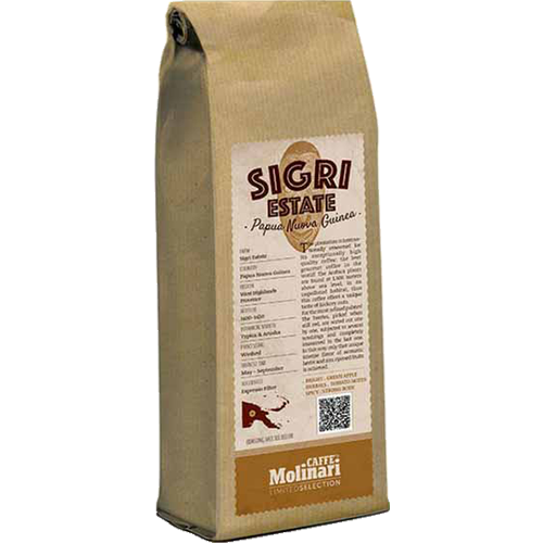 Molinari Sigri Estate Papua New Guinea coffee beans 250g