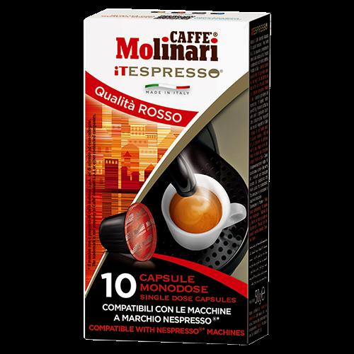 Molinari itespresso Qualità Rosso Nespresso coffee capsules 10pcs