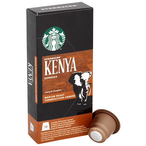 Starbucks Kenya Espresso coffee capsules for Nespresso 10pcs