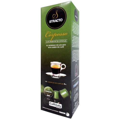 Stracto Corposso Caffitaly coffee capsules 10pcs