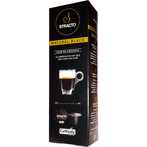 Stracto Natural Black Caffitaly coffee capsules 10pcs