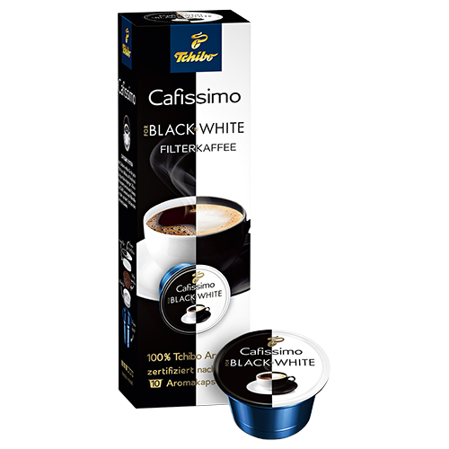Tchibo Black n White Caffitaly coffee capsules 10pcs